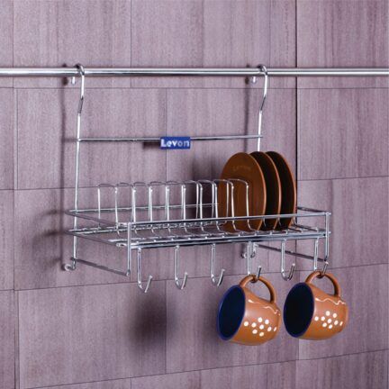 Levon Plates Cups Rack Organiser Without Rod2